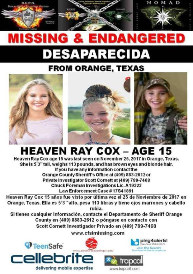 Heaven Ray Cox missing person flyer .jpg