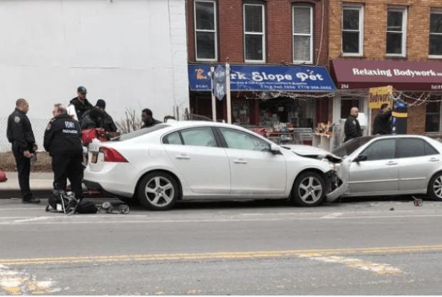 Brooklyn car crash on Monday, Mar 5, 2018.png