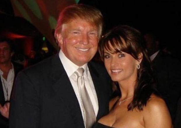 Donald Trump with model and Playmate Karen McDougal 1