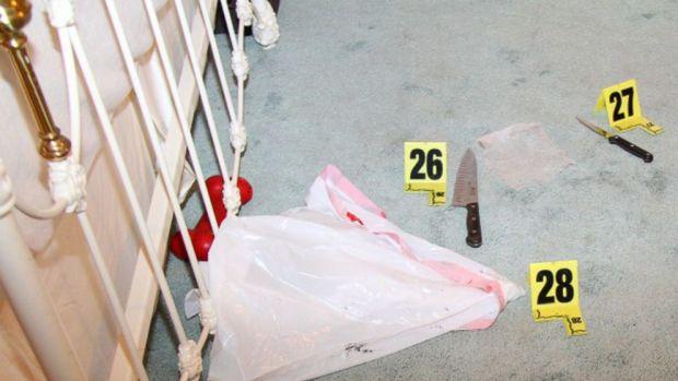 Evidence in the bedroom where Rebecca Zahau was before the hanging .jpg