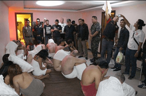 Photo of British me caught in police raid of an illegal orgy at a hotel in Thailand 2