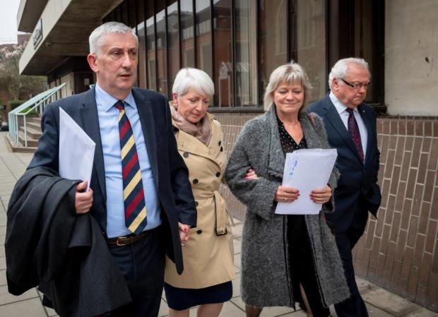 Sir Lindsay Hoyle, his wife Catherine Swindley and the mother of his daughter 1
