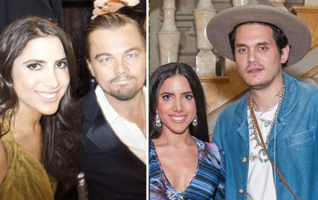 Caren Brooks seen [left], with Leonardo Dicaprio and John Mayer [right].png