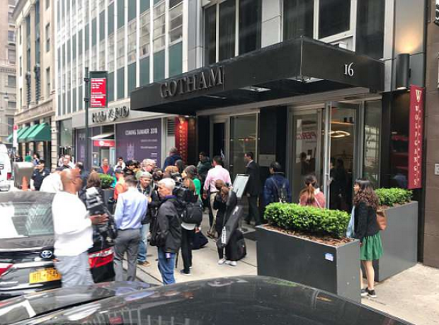 Crowd scene after Stephanie Adams and her son jumped from a window of the 25th floor penthouse, in Mahattan6.png