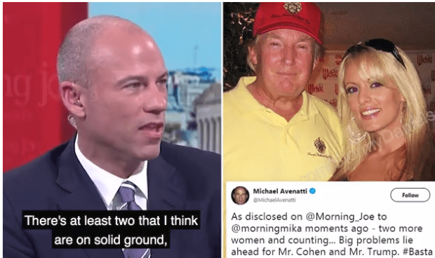Michael Avenatti, Donald Trump and Stormy Daniels