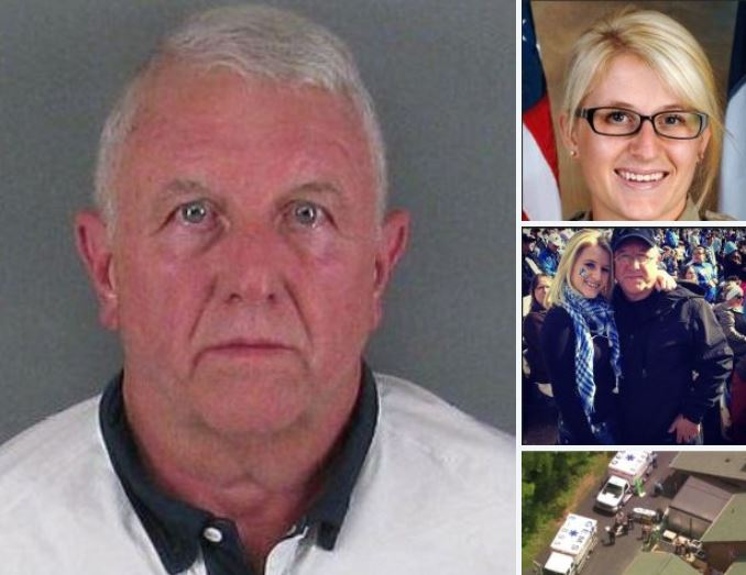 Former-cop kills his sheriff's deputy daughter and daughter-in-law! Glenn Roger Self 'intentionally' rammed his car into crowded restaurant where he sat his family is dine, Sunday, in NC
