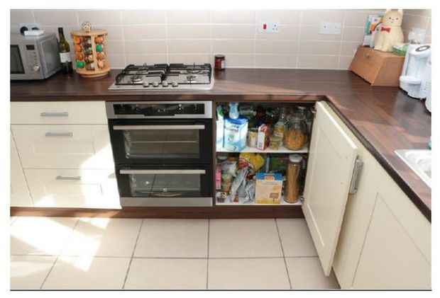 The cabinet  containing the gas valve for the hob in the kitchen in the Cilliers' home.jpg