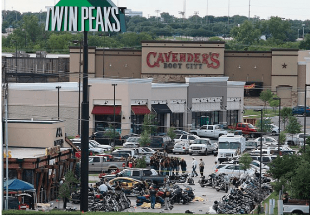 Twin Peaks restaurant, Waco, Texas 1