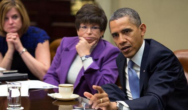 Valerie Jarrett and Barrack Obama 2