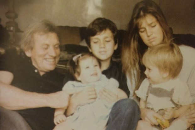 Baby Inés Zorreguieta with her parents, brother and sister.jpg