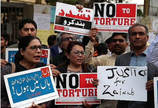 Protesters demand justice for six-year-old rape and murder victim, Zainab Fatima Ameen 1