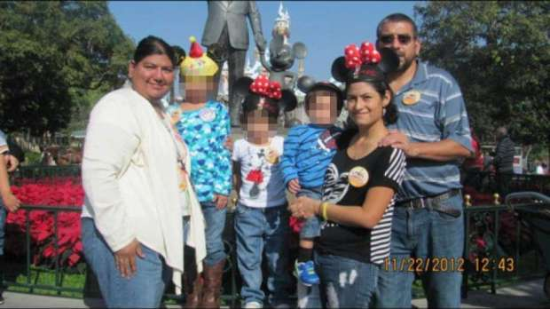 Abigail Alvarado (front right) with Laura Castillo [left] and Eusebio Castillo and they children she bore  resulting from the rape.jpg