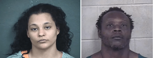 'Mom-from-Hell' and her boyfriend arrested after admitting she watched strangers abuse her daughter, 2, while her boyfriend recorded the confession - Azzie Watson delivered her toddler to the two adult rapists at least 10 times
