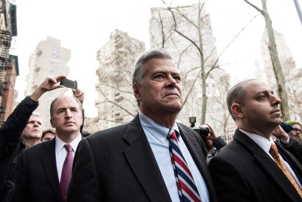 State Senator Dean G. Skelos and his son, Adam, left the federal courthouse in Manhattan 2.jpg