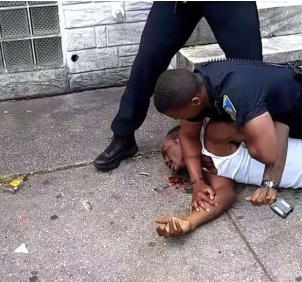 Dashawn McGrier is beaten up by Baltimore cop 2