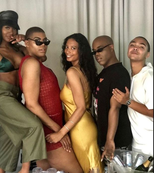 EJ Johnson [second left] and  Lyric McHenry.JPG