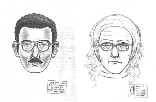 FBI sketch of couple suspected to have stolen Willem de Kooning's  'Woman-Ochre' painting 1.JPG