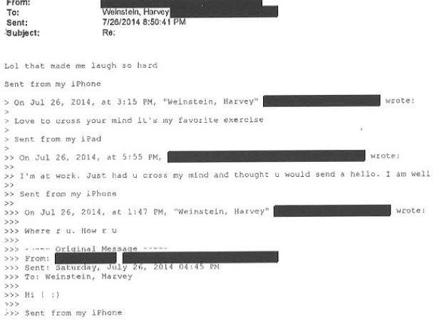 Harvey Weinstein's communication with alleged rape victim 33.jpg