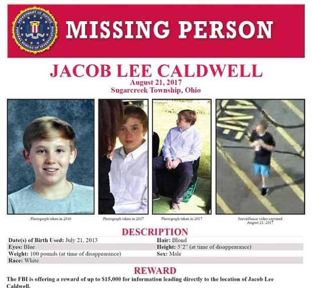 Jacob Caldwell missing person flyer 1