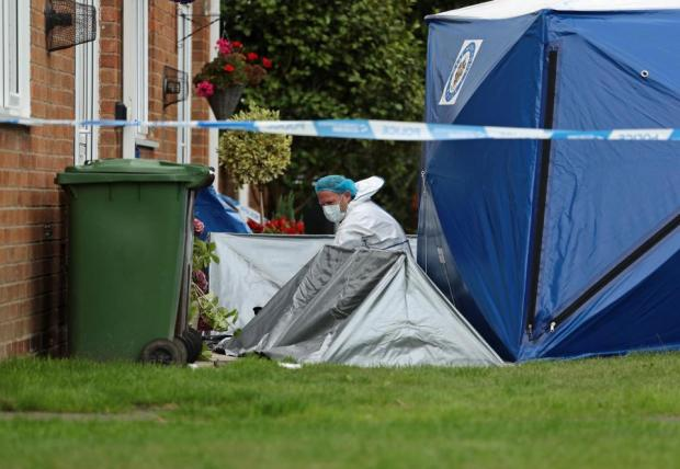 Policee forensics team at the scene outside Raneem Oudeh's home 1.jpg