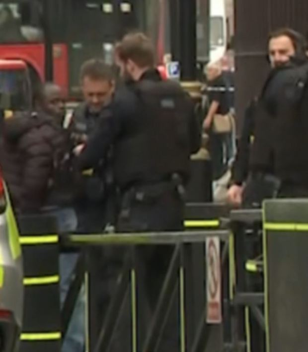 Security agents arrest man after car 'hit cyclists' in Westminster.JPG