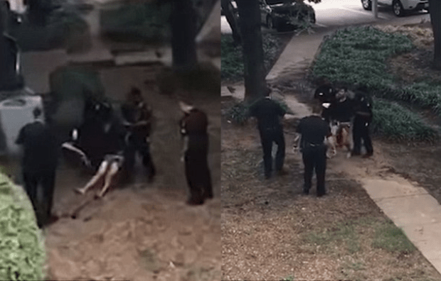Texas dad dragged out by police after he stabbed his toddler to death 1.png