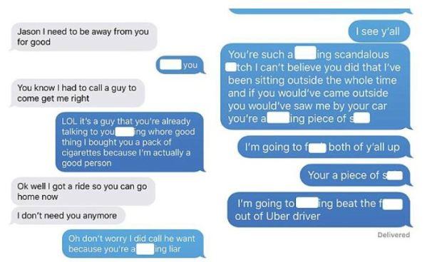 Texts between Jason Boek and his girlfriend Jessica 2