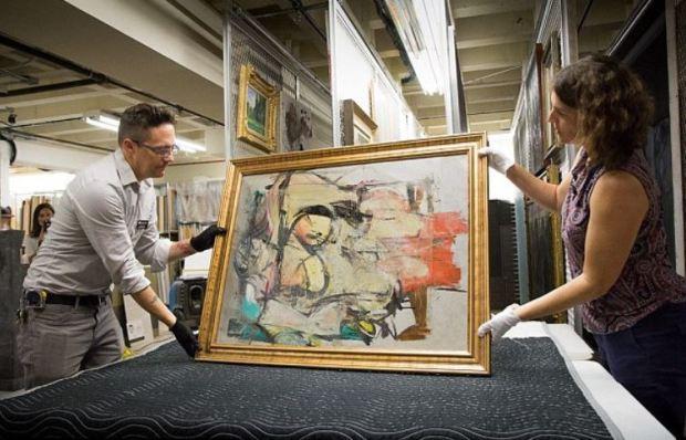 Willem de Kooning's iconic 'Woman-Ochre' painting 2.JPG