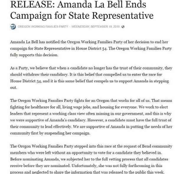Amanda La Bell ends her campaign 4.JPG
