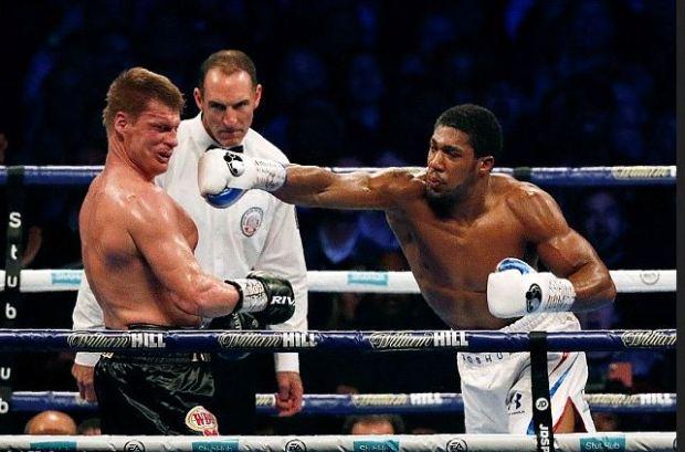 Anthony Joshua [left], vs Alexander Povetkin fight 4
