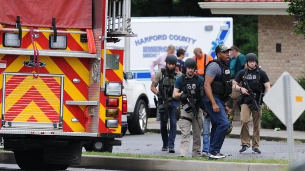 Atf agents move in after femle shooter struck in Aberdeen MD.JPG
