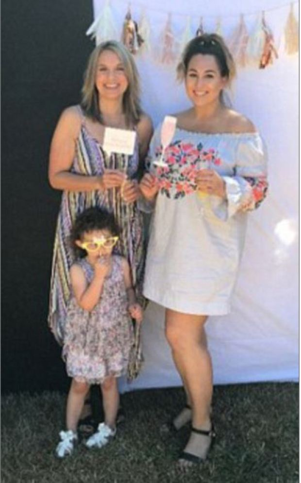 Meighan Cordie [right], her mom, Jennifer Weathers [left], and Cordie's daughter 2