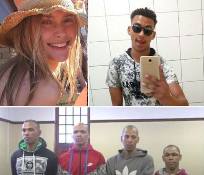Four men on trial in the carjacking and savage murder of brilliant student - Hannah Cornelius was gang raped and beaten to death with a rock after stopping to give a friend a ride home to stop thugs stealing his skateboard