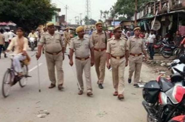 Police patrolling through Noida this week in search of the woman who fled her village afterassaulting the 13-year-old boy 2.jpg
