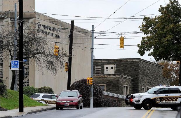 Tree of Life Congregation Synagogue in Squirrel Hill, Pittsburgh, on Saturday.JPG