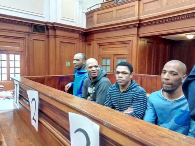 Vernon Witbooi, [left], Geraldo Parsons, [second left], Eben Van Nieberk, and Nashville Julius [right] 2