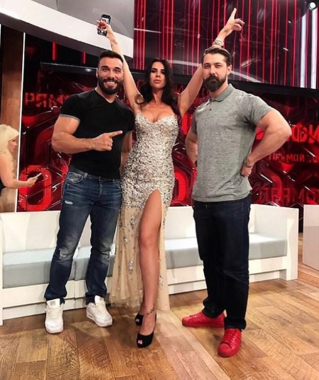 Evgenia Vorobiyova and hosts of reality show Lets Get Married