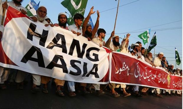 Hard line Islamists protest over release of Asia Bibi in Pakistan 4.JPG