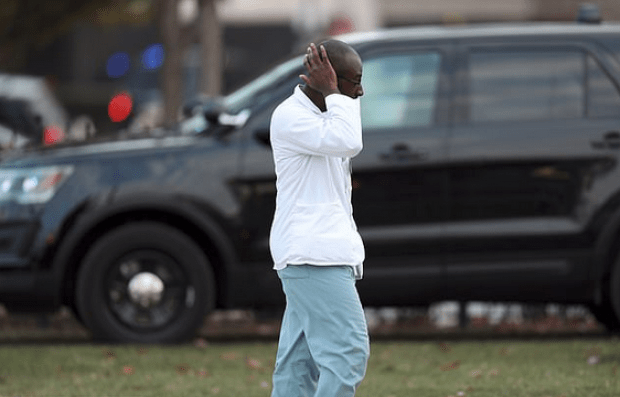 Traumatized doctor at Mercy Hospital, Chicago after shooting Nov 19