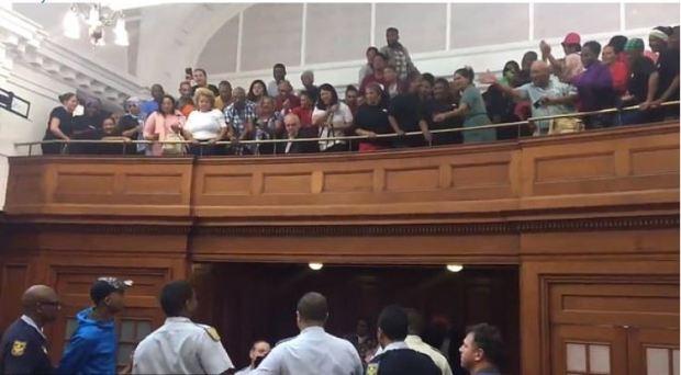 Vernon Witbooi, Geraldo Parsons, Eben van Niekerk and Nashville Julius sentencing, crowd burst out in applause