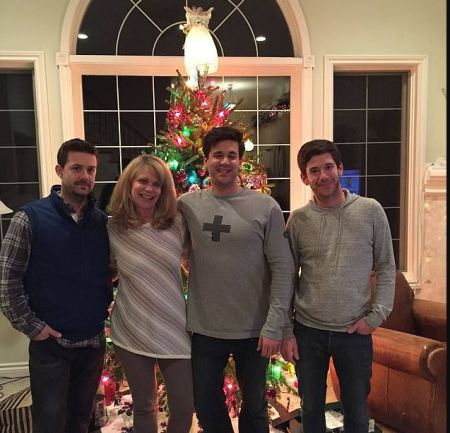 Colin Kroll [right], with his family on Christmas Eve of 2015