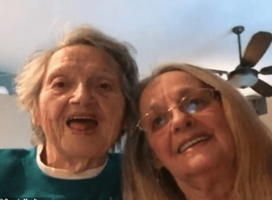 Genevieve Purinton [left], reunited with her daughter Connie Moultroup [right] 1.png