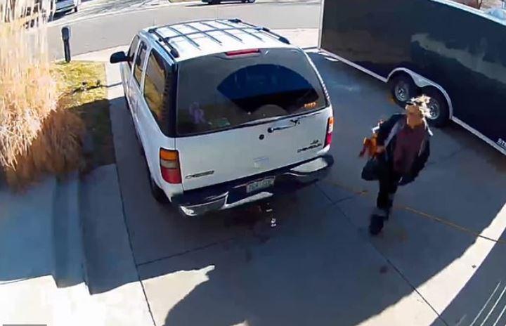 Renee Abeyta chases porch raider 2