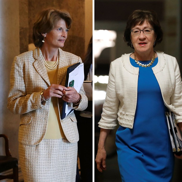 Lisa Murkowski [left and Susan Collins [right] 1