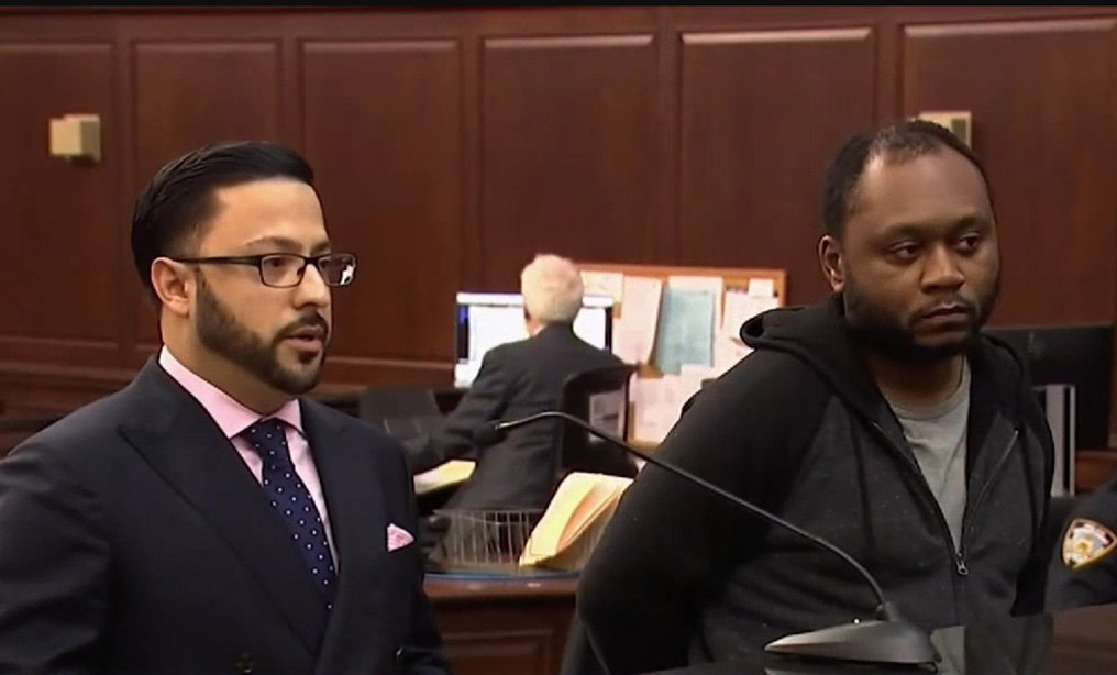 Ra'Shaun Kelley, [right], and his attorney Christopher Carrion.