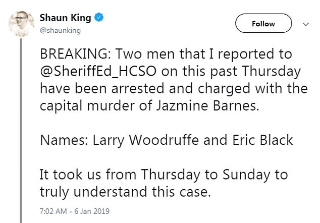 Shaun King text 1