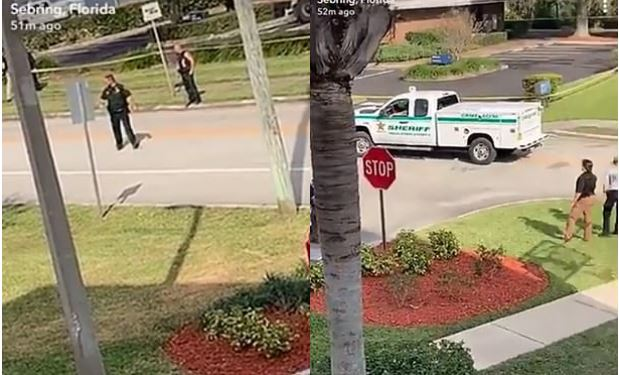 police activity outside SunTrust Bank branch in Sebring, Fla 2