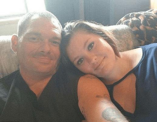 Samantha Kershner [left], and her father Travis Fieldgrove 2