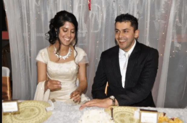Ahmed Dawood Seedat, [left], and Fahima Yusuf on their wedding day 1