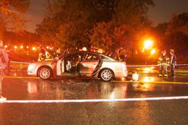 Martin Pereira's torched car 4